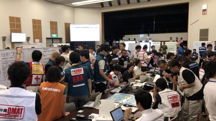 沖縄県災害対策本部設置運営訓練