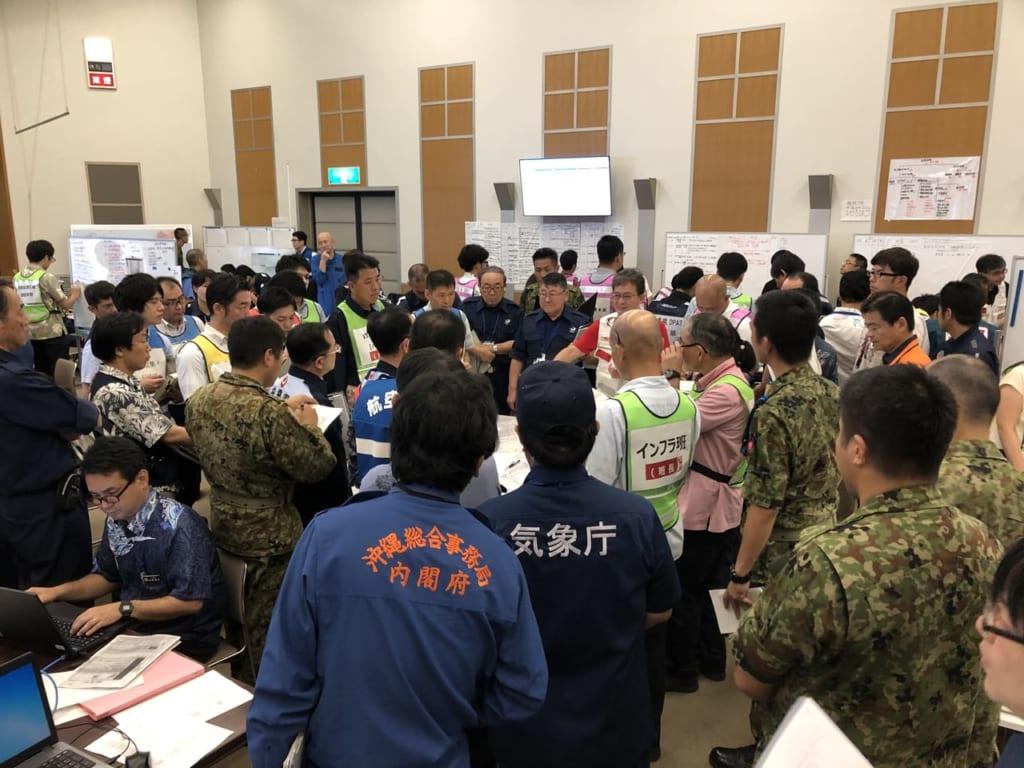 災害対策本部設置運営訓練