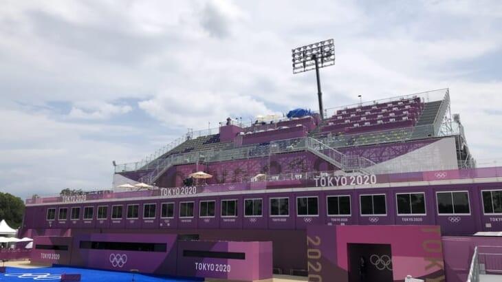 オリンピック会場の裏